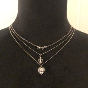 Juicy Couture Triple Chain Necklace